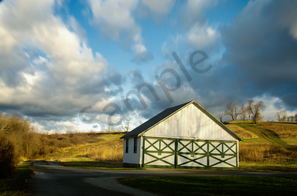 Aging Barn in the Morning Sun Landscape Photo Wall Art by Landscape Photographer Melissa Fague