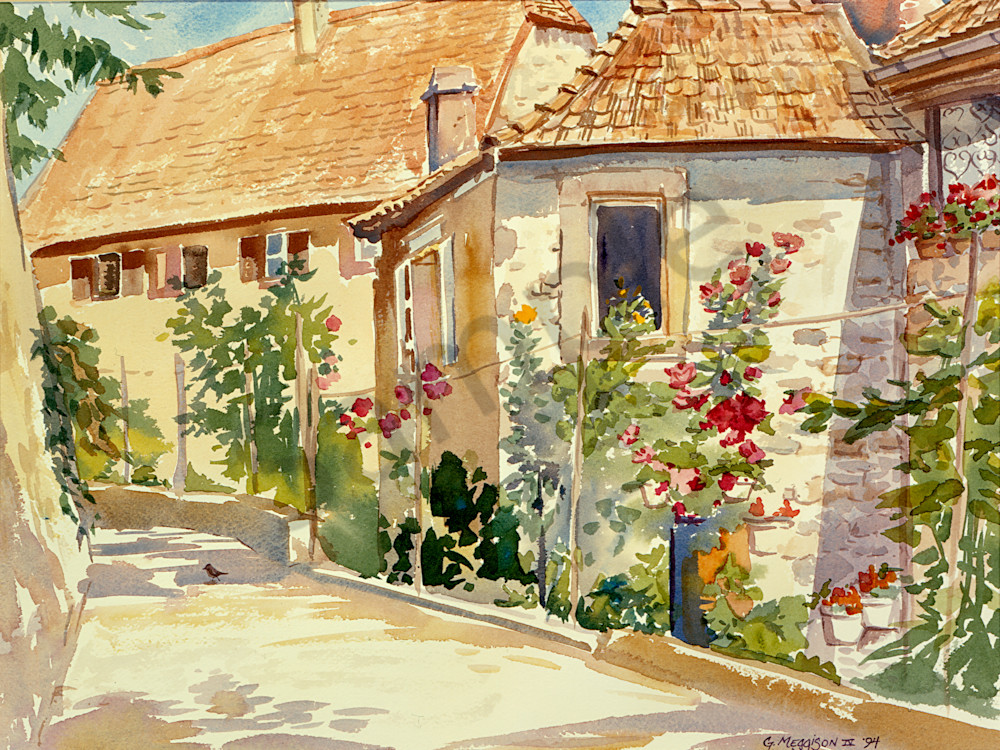 Secret Garden 1 | Watercolor Landscapes | Gordon Meggison IV