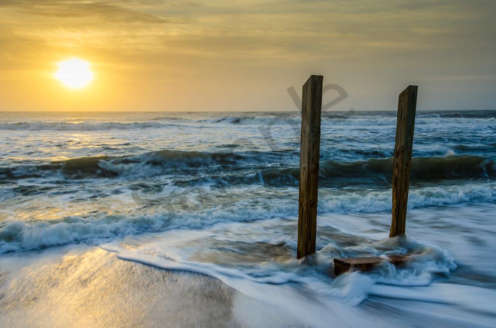 Kissed by the Sea Coastal Landscape Photograph