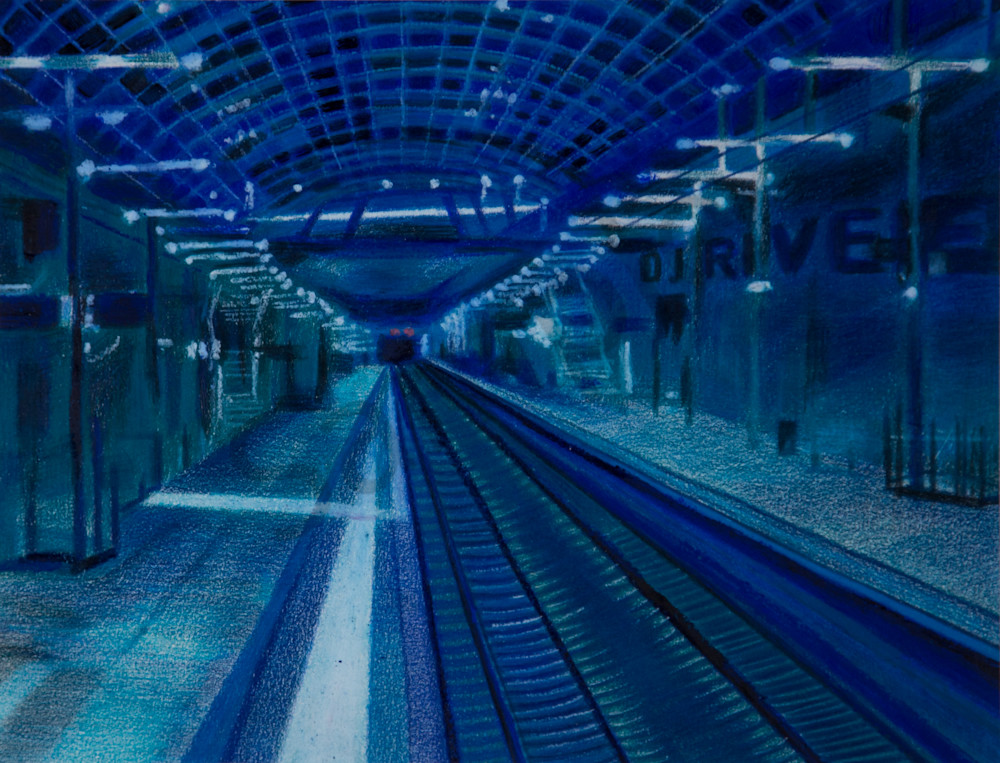 The Abstract Subway Transit  Art
