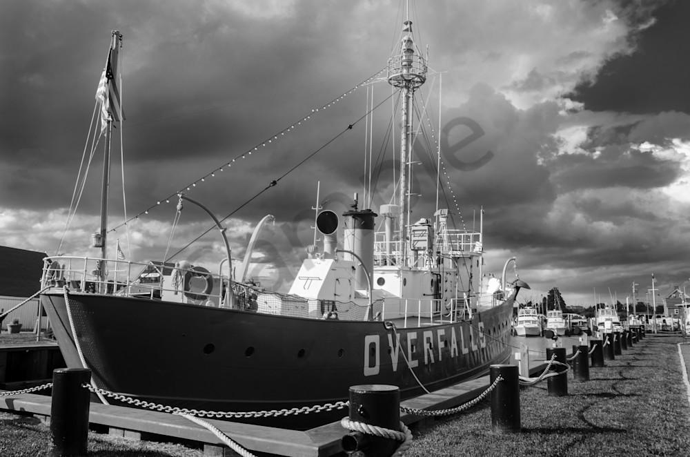 Overfalls Lightship Lewes Landscape Photo Wall Art by Landscape Photographer Melissa Fague