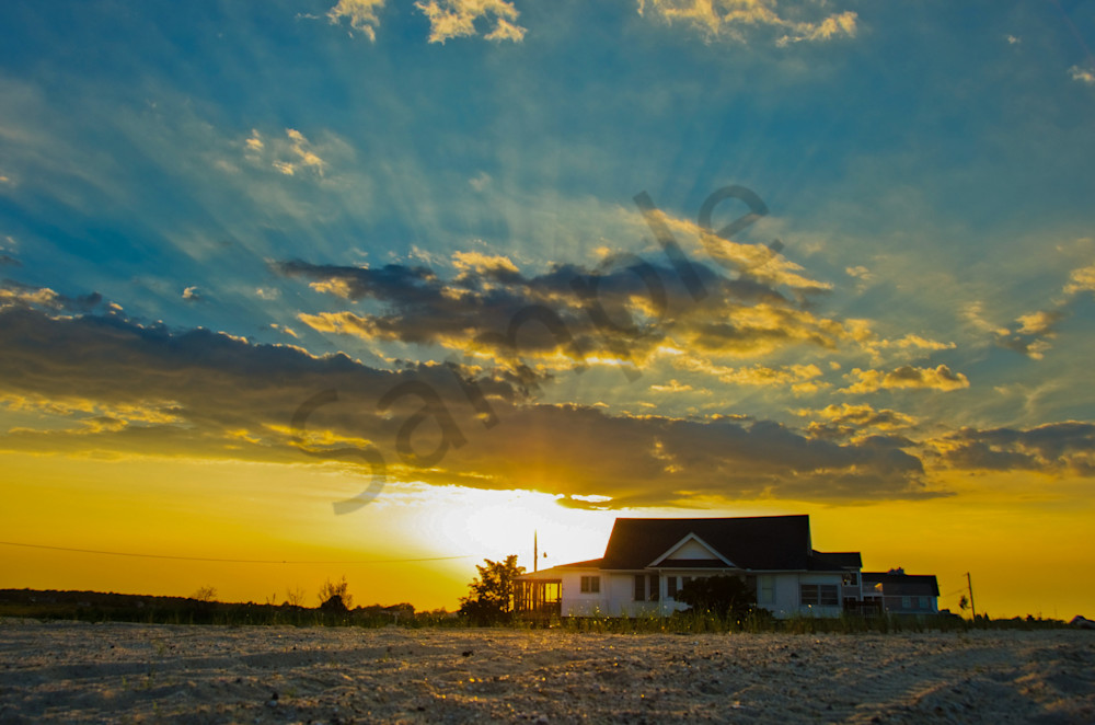 Sunset at Bowers Beach Landscape Photo Wall Art by Landscape Photographer Melissa Fague