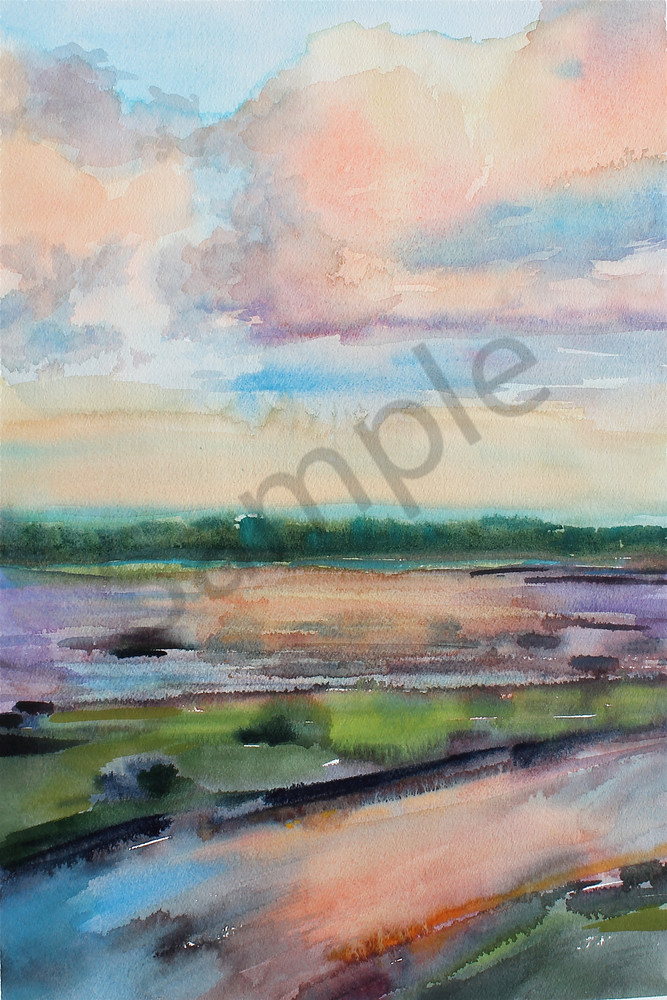 Marsh Landing | Watercolor Landscapes | Gordon Meggison IV