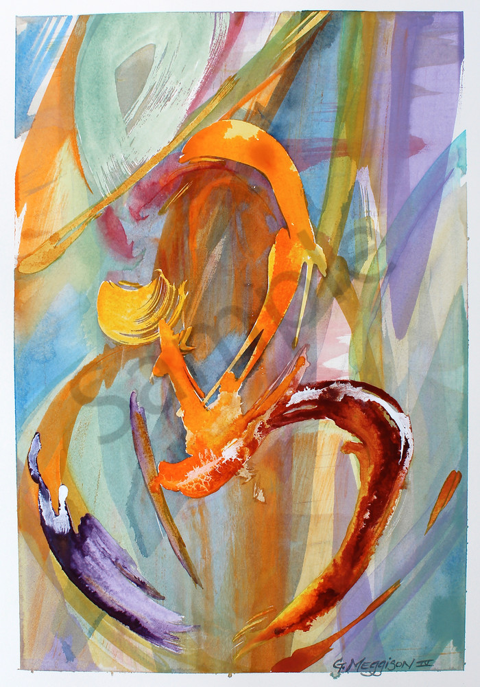 Dancing Energy | Abstract Watercolors | Gordon Meggison IV