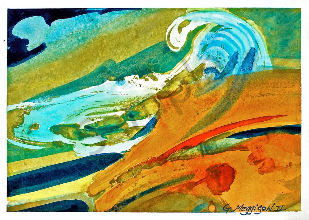 Momentum   Abstract Watercolors   Gordon Meggison IV
