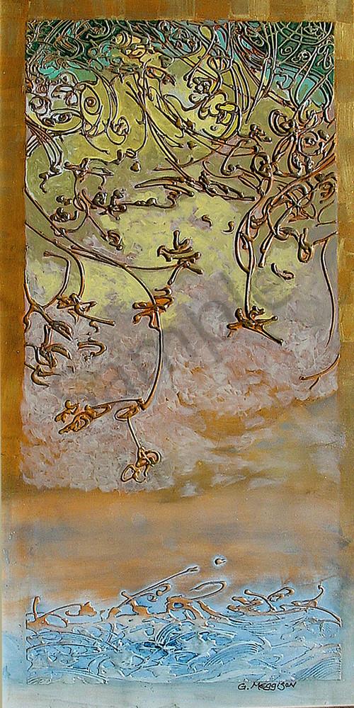 Mystic Waters | Abstract Acrylic Mixed Media | Gordon Meggison IV