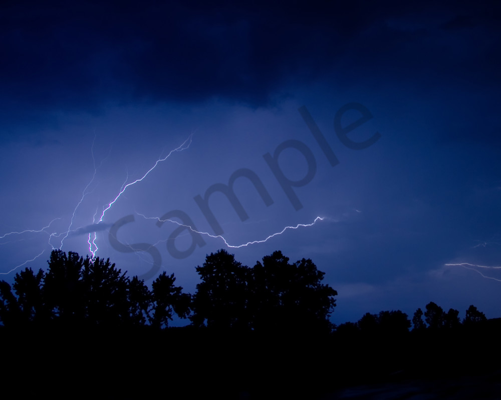 Lightning over the Valley Night Photo Wall Art by Nature photographer Melissa Fague
