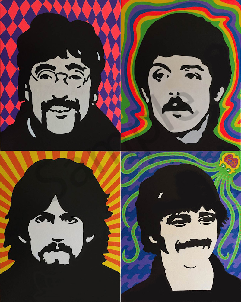 Beatles 2 x 2 Collage