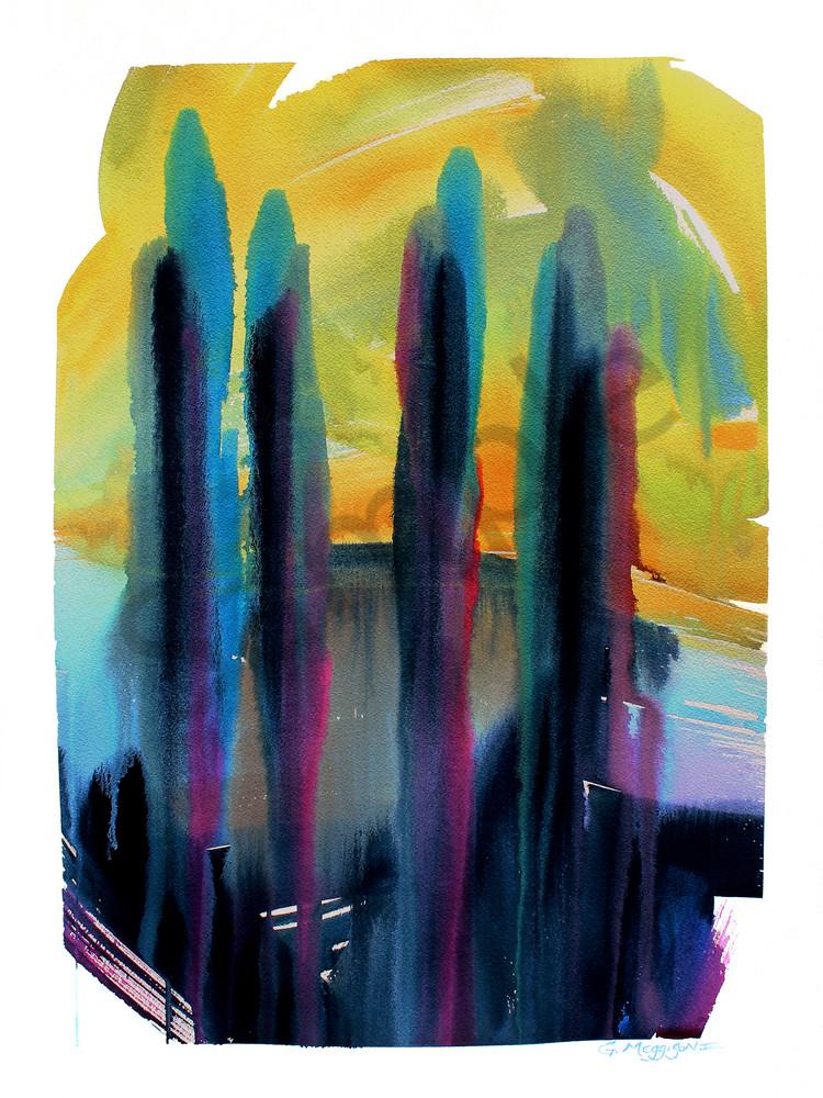 Flowering Mysteries 2 | Abstract Watercolors | Gordon Meggison IV