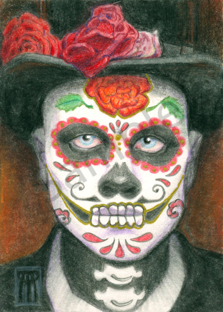 Day of the Dead with Top Hat