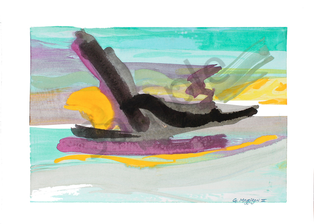 Pegasus   Abstract Watercolors   Gordon Meggison IV