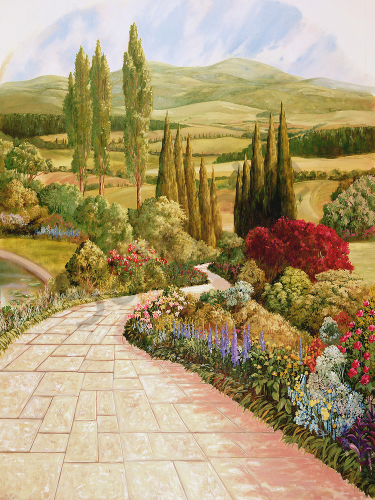 English Garden 2 | Murals in Classical Style | Gordon Meggison IV