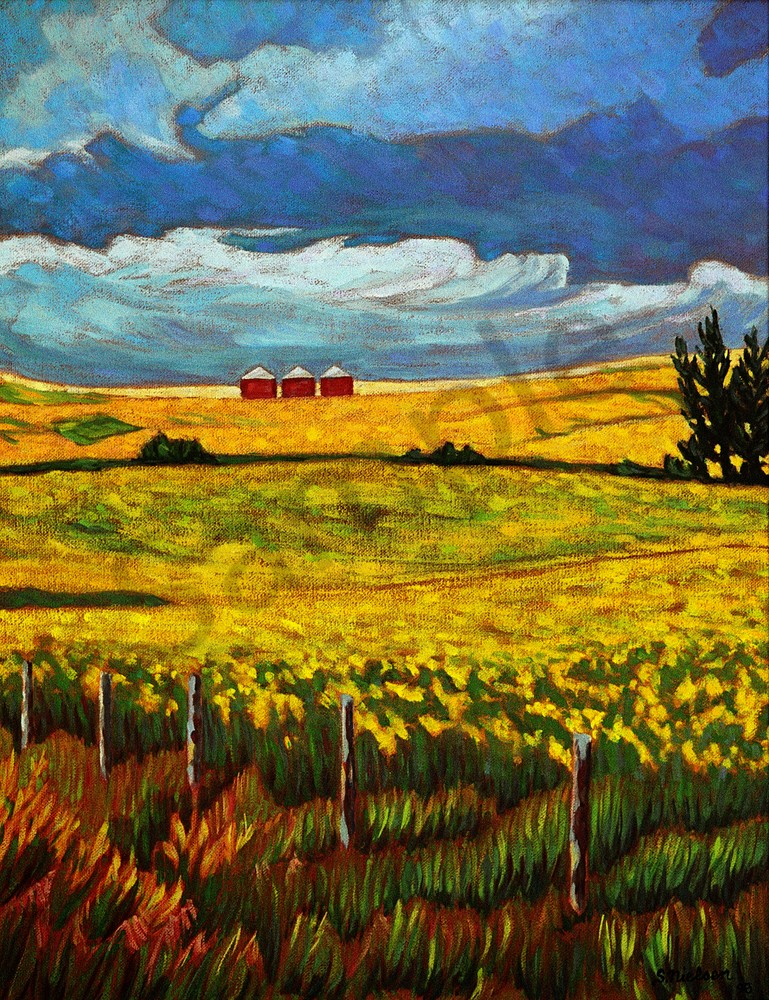 Three Bins - Sherry Nielsen - Canadian painter