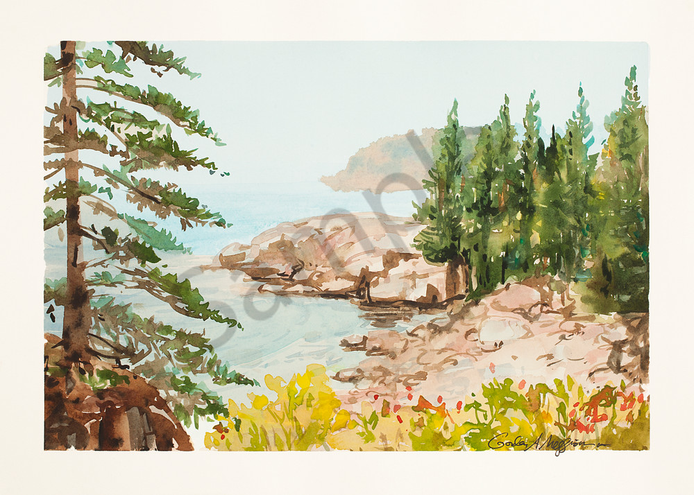 Dorr Point, Maine | Watercolor Landscapes | Gordon Meggison IV