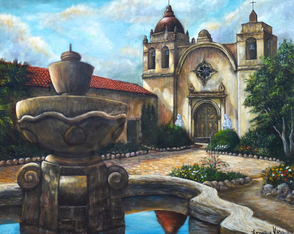 Mission San Carlos Borromeo De Carmelo Art | Vasquez Art