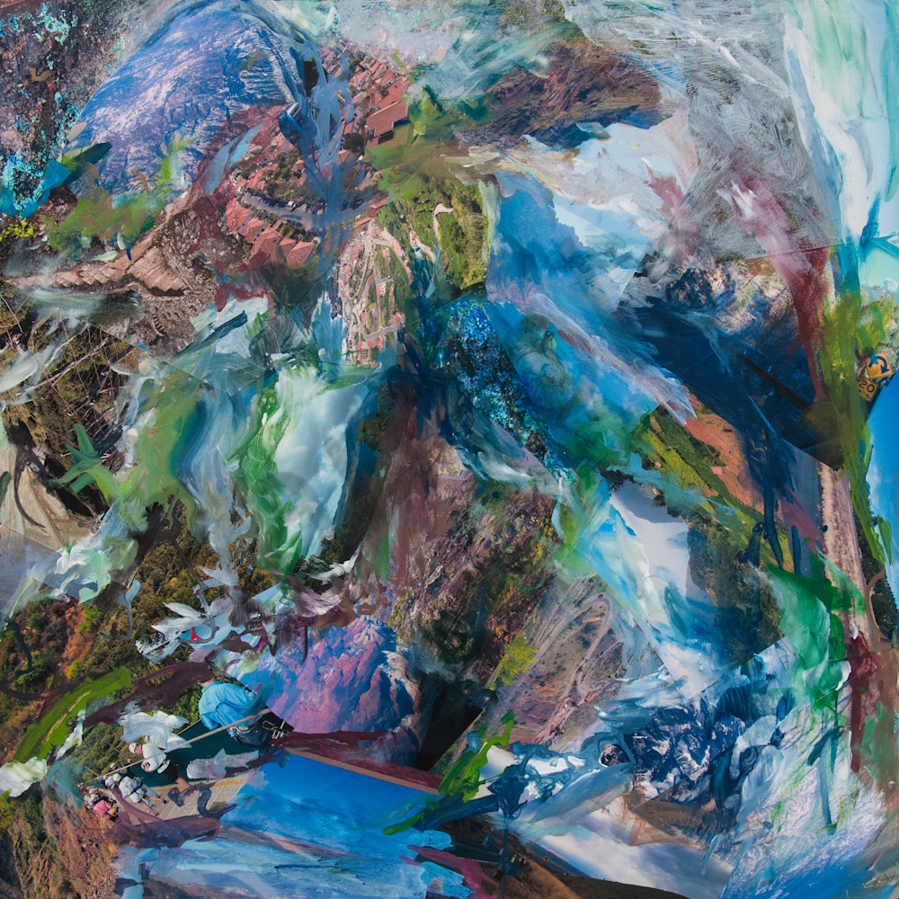Buy So says...  The montain - High Quality Print of Mixed Media original Dreamscape