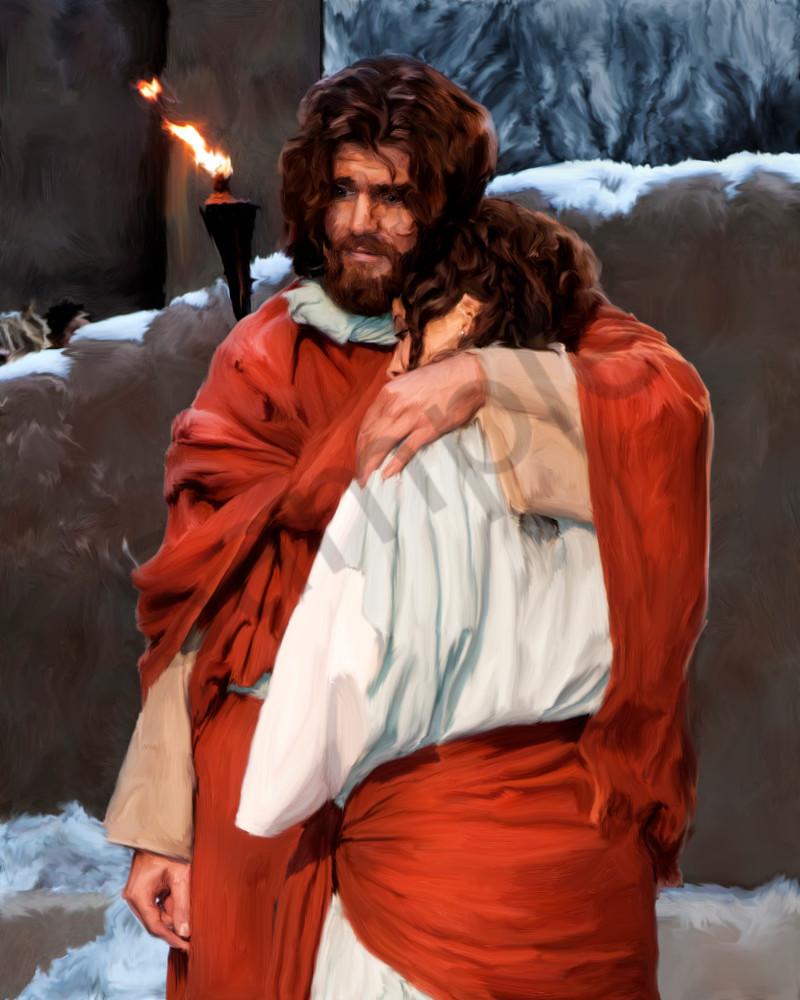 Own a digital art painting showing the compassion of Jesus Christ