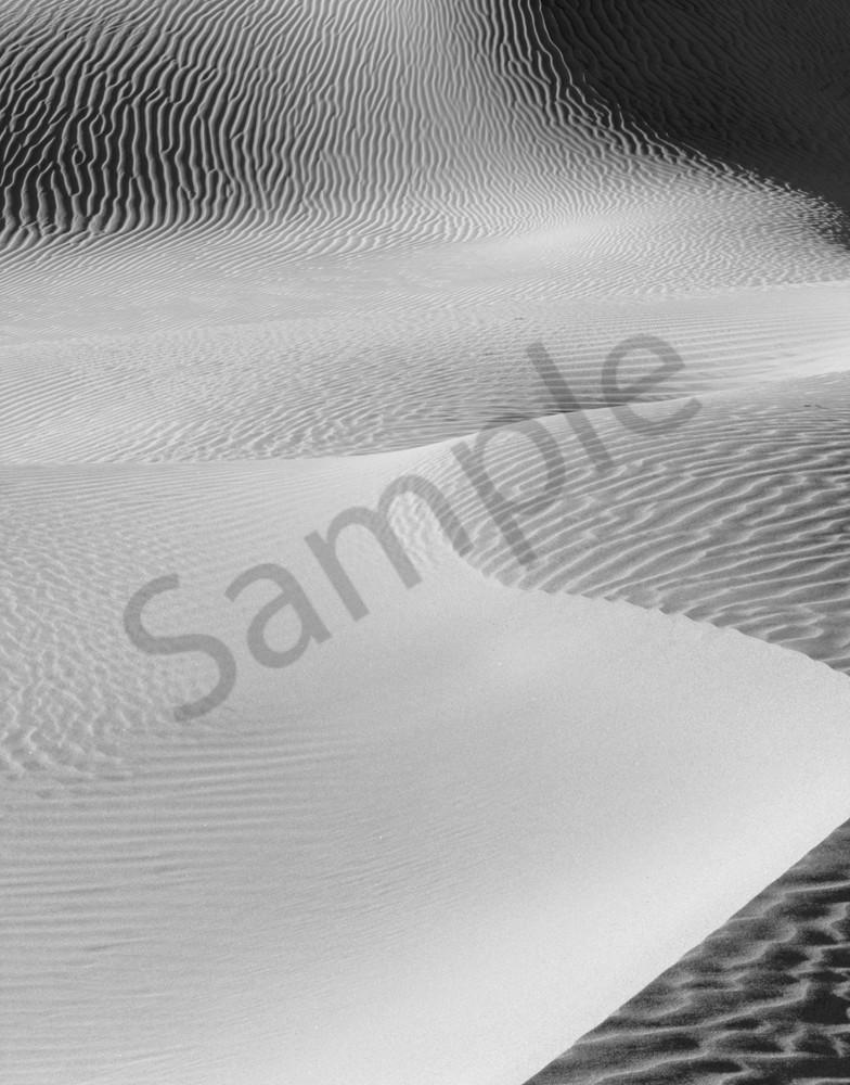 Sculptered sand dunes, Death Valley