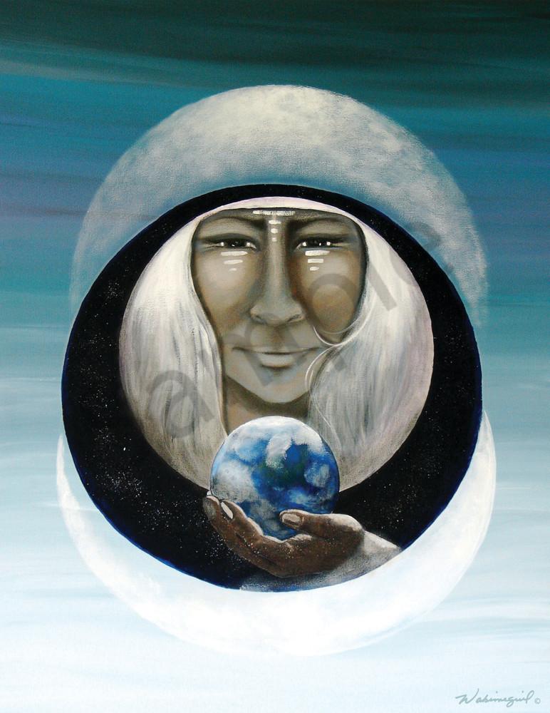 "February Moon, ""Wisdom Keeper"" by Wabimeguil"