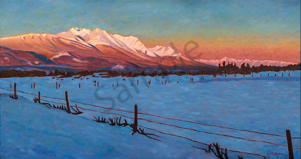 Laidlaw Sunrise - Hudson Bay Mountain winter morning - by Sherry Nielsen