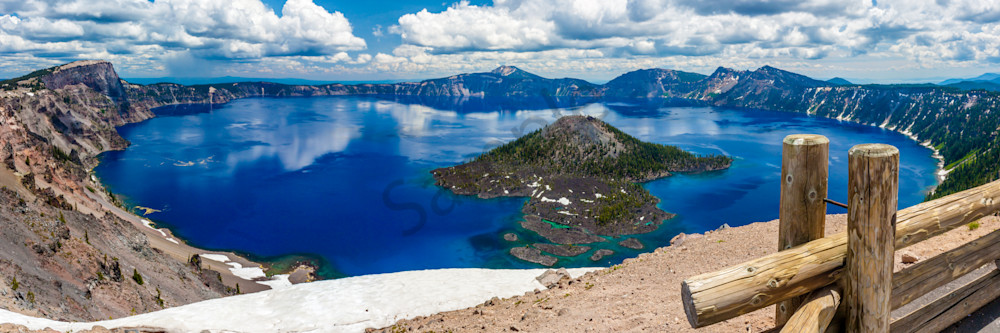 Crater Lake Panorama, Oregon, USA