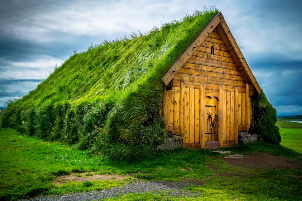 Turf House, Skalholt, Iceland