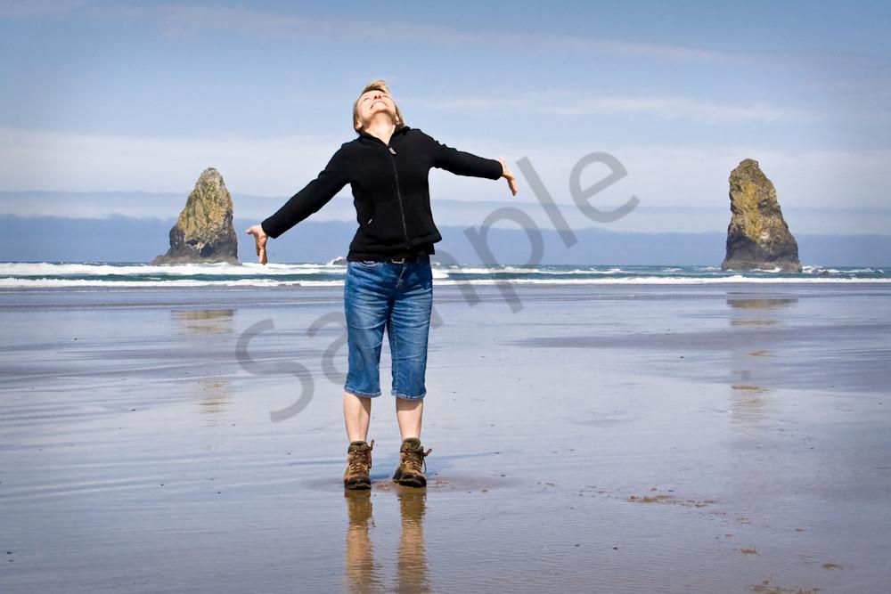 Woman on the Beach, Oregon, USA