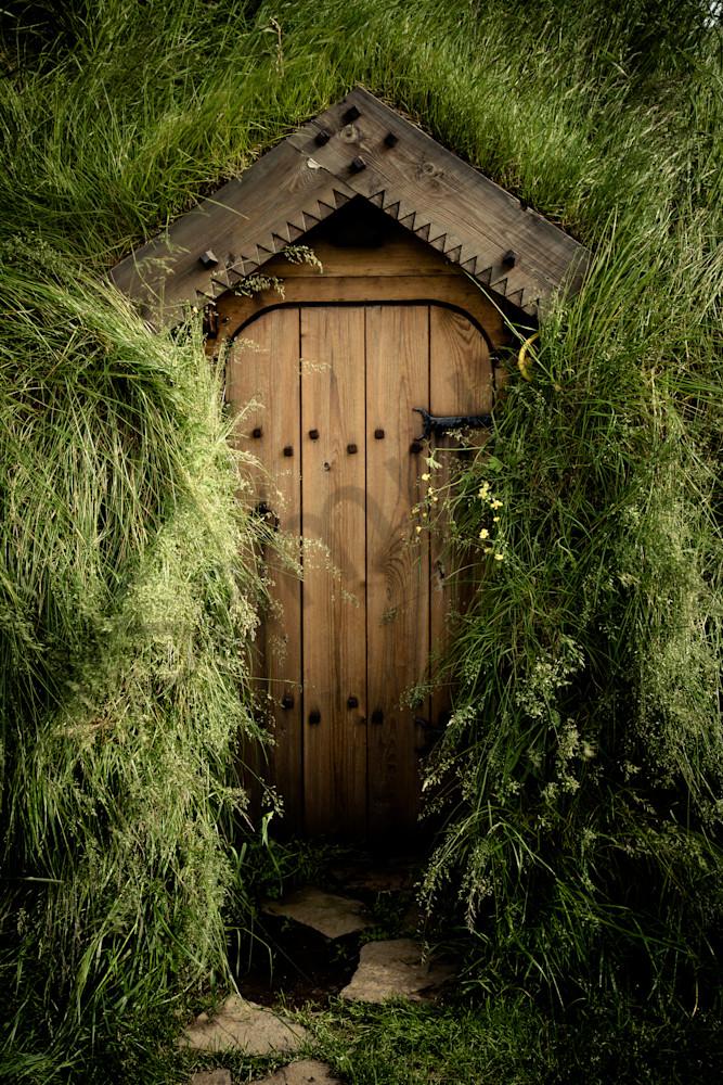 Turf House Door, Skalholt, Iceland