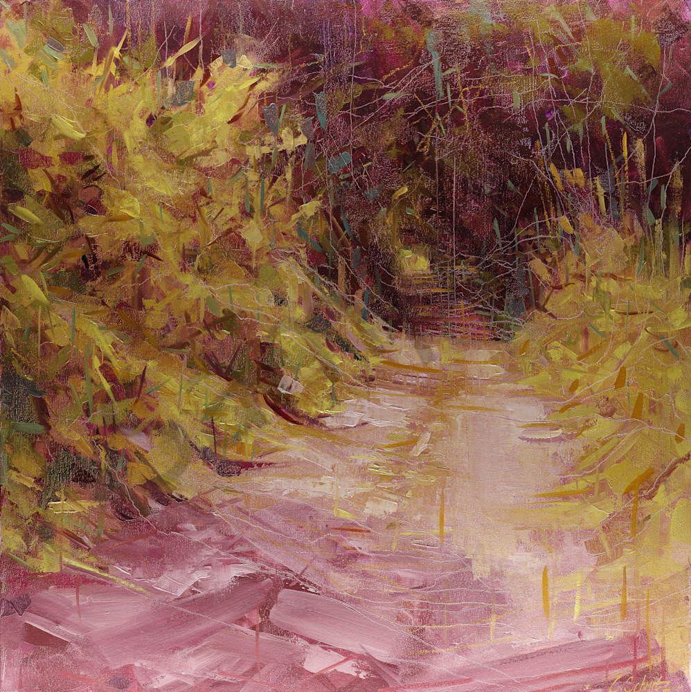 To the tower oil on canvas