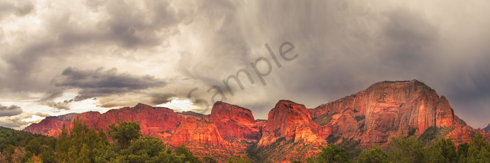 Storm Breaking Over kolob Canyon, Utah
