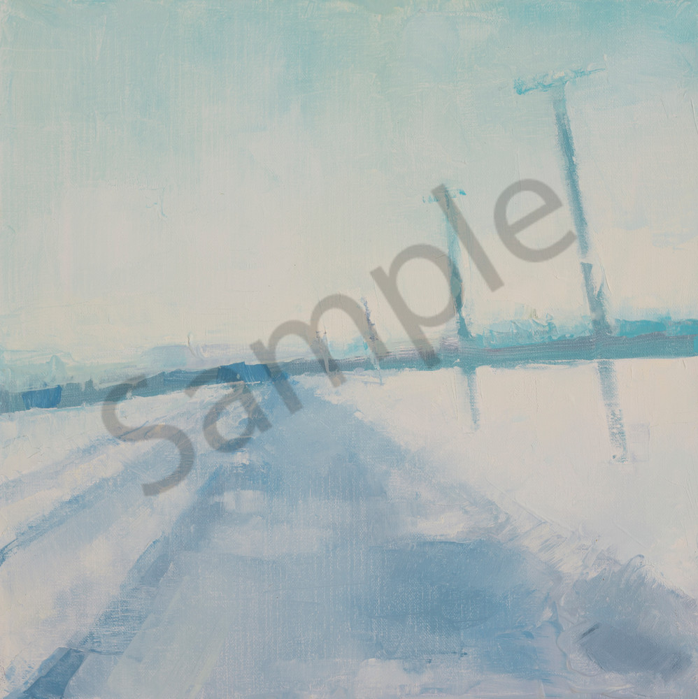 Southbound to Middlebury landscape painting