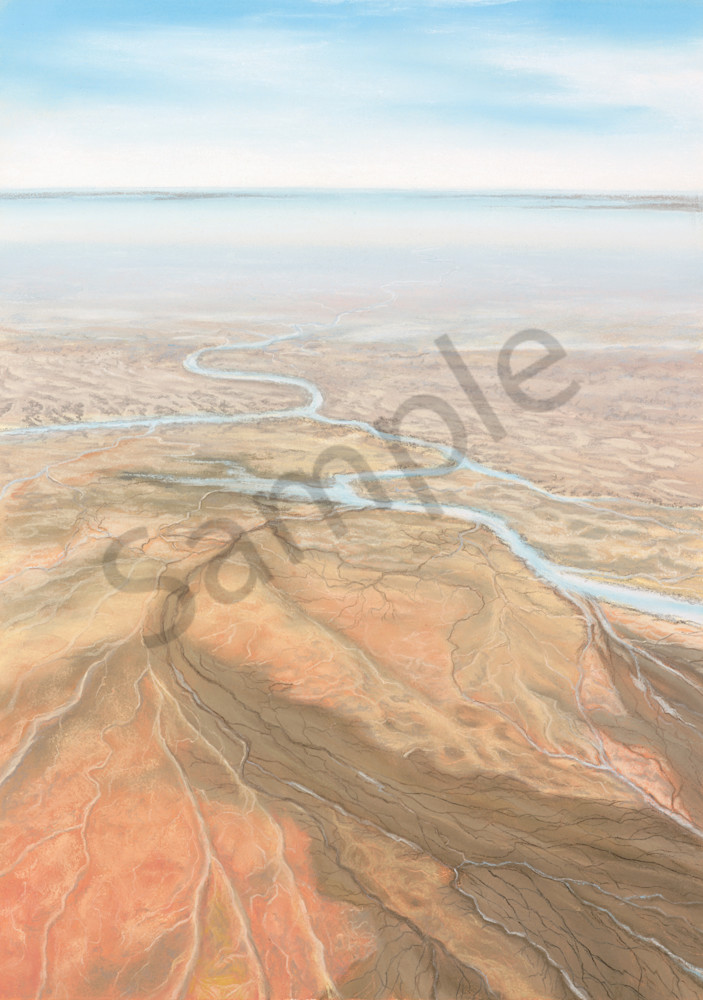 Approaching Lake Eyre by Jenny Greentree