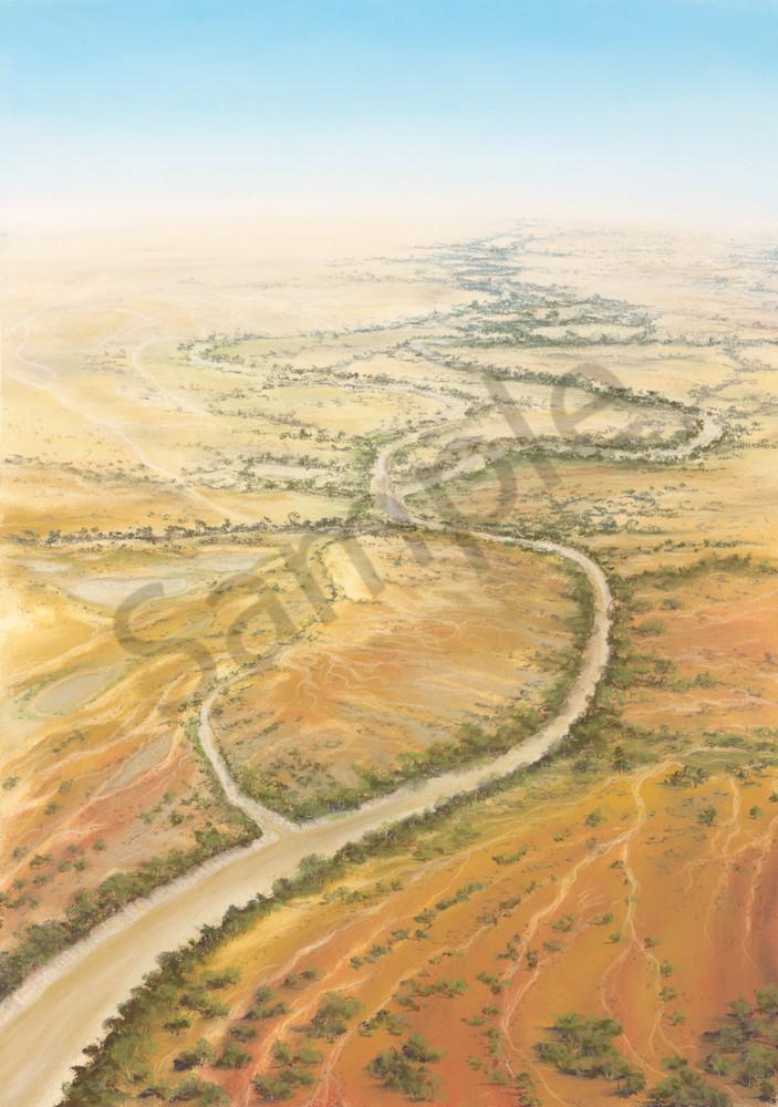 Diamantina River by Jenny Greentree
