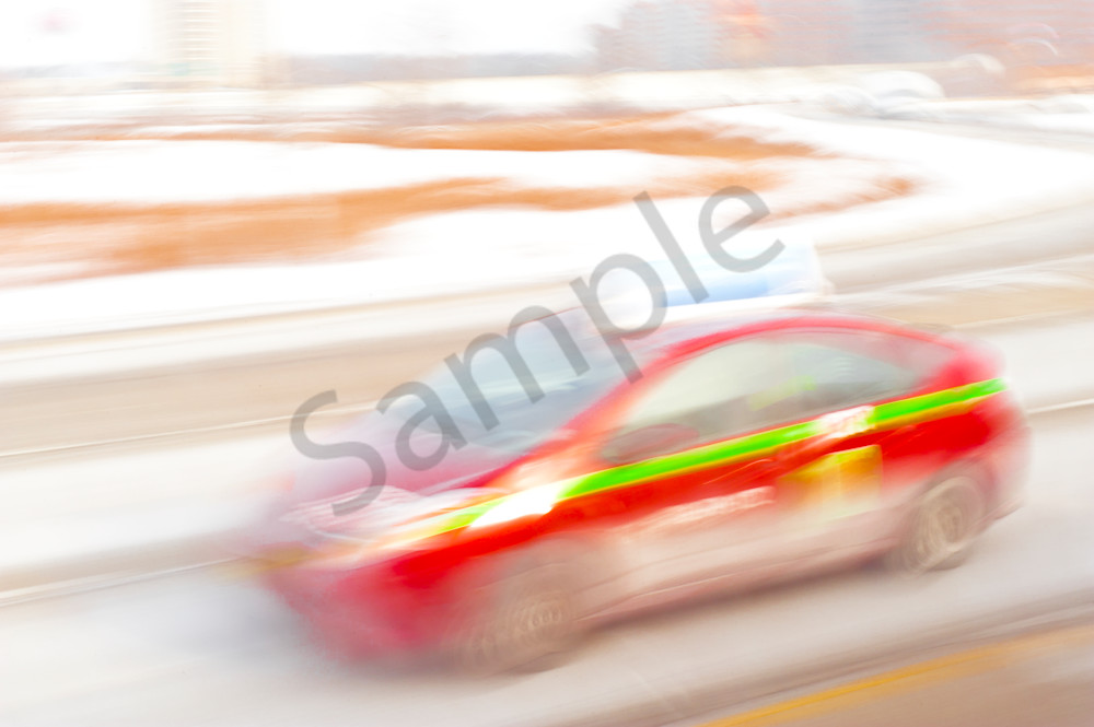 Colorful Blurred auto in movement