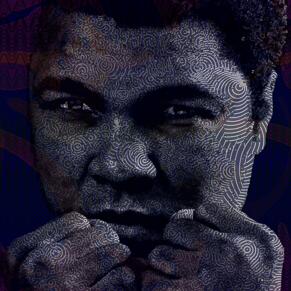 Muhammad Ali art at Vectorartlabs.com