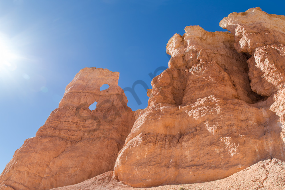 Rock Formation and Sun, Utah, USA