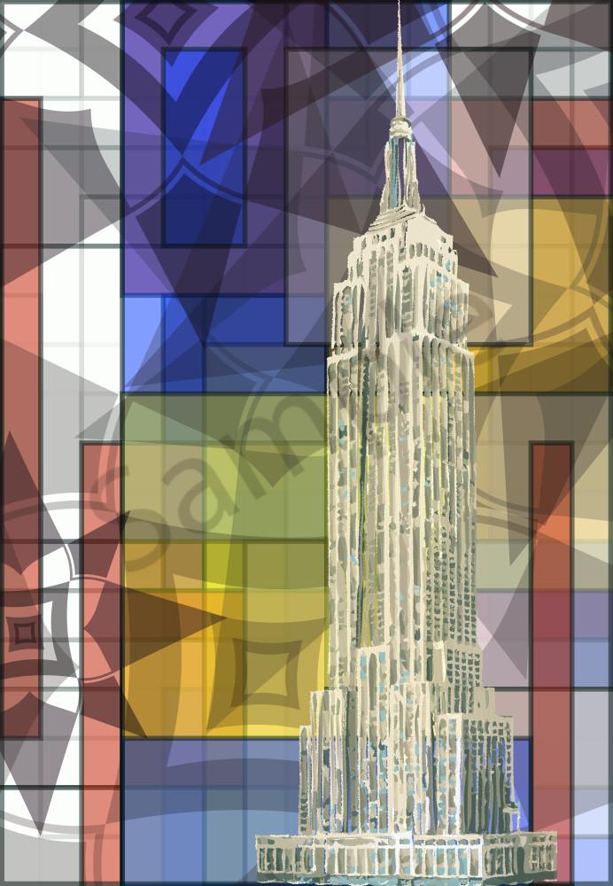 Empire State Building art, print by Peter McClard. World Trade Center Photographic Print, art by Peter McClard at vectorArtLabs.com
