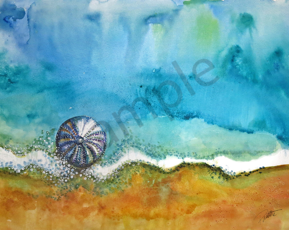 Abstract Urchin large watercolor for sale at Boudreau-art.com