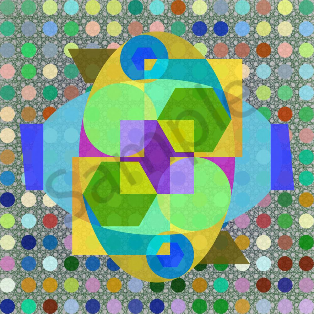Geo Improv , algorithmic art, paintings & photographs as originals by Neo Impressionist Peter McClard