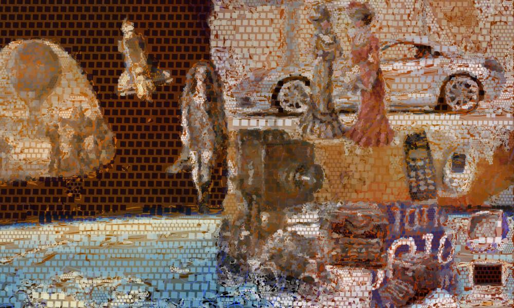 20th century art, photographs, prints by algorithmic artist Peter McClard at BrillianceGallery.com