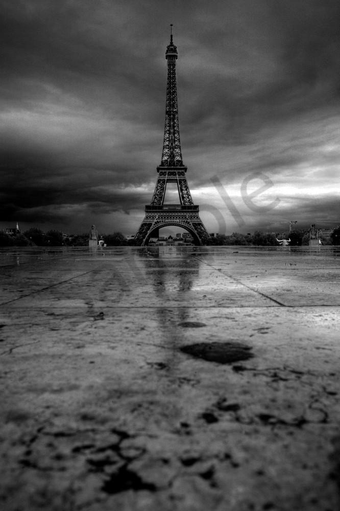 Brooding Eiffel Tower Paris, France
