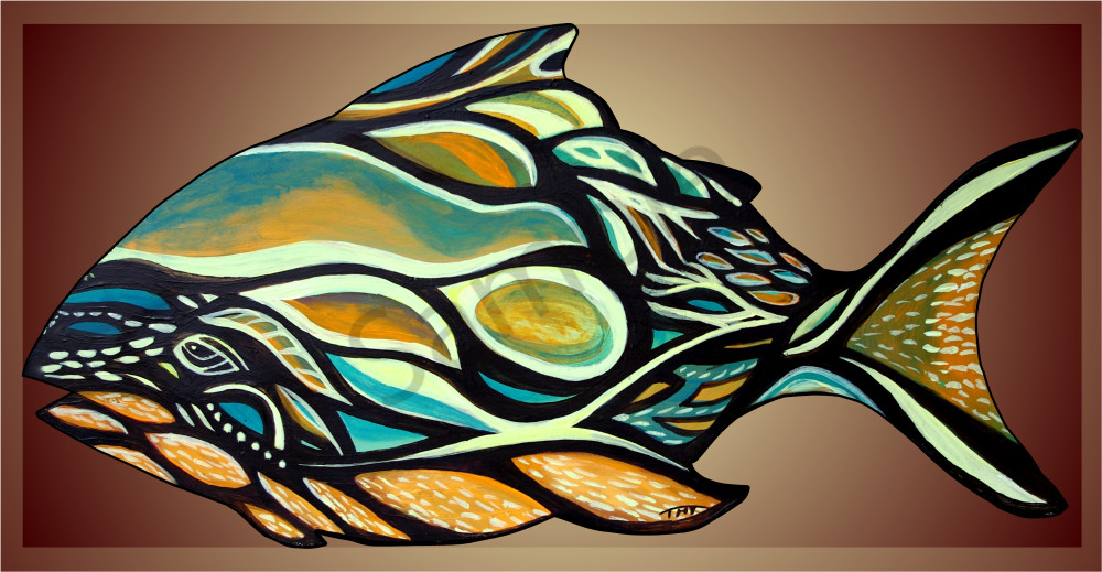 haida fish, fish art, abstract fish,nautical