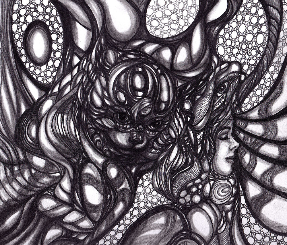 Unique B & W Surrealistic Art Seriously Psychedelic