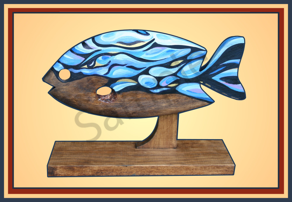 Rapids Blue Fish - Teresa Young