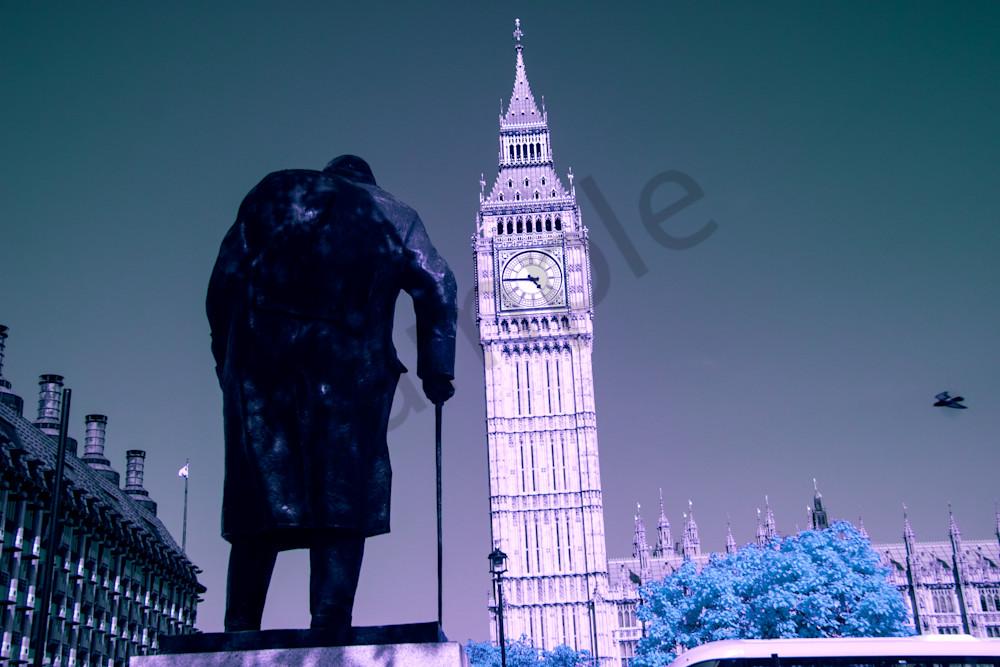 Churchill, statue, Big Ben