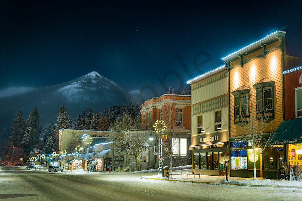 Moonlit Rossland Photography Art | Kokanee Camera and Nelson Fine Art Printing