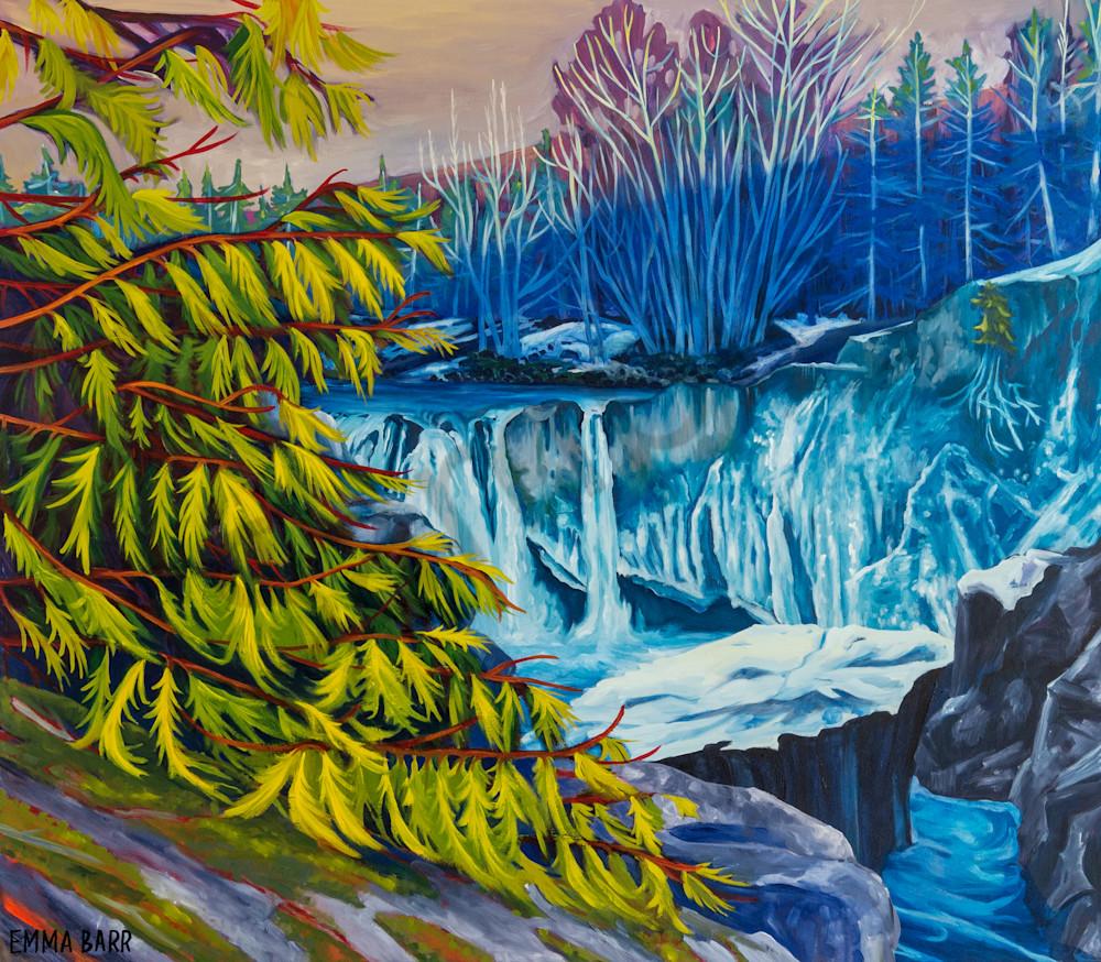 Cedar Flanked Falls | Deluxe Canvas Print | Emma Barr Fine Art