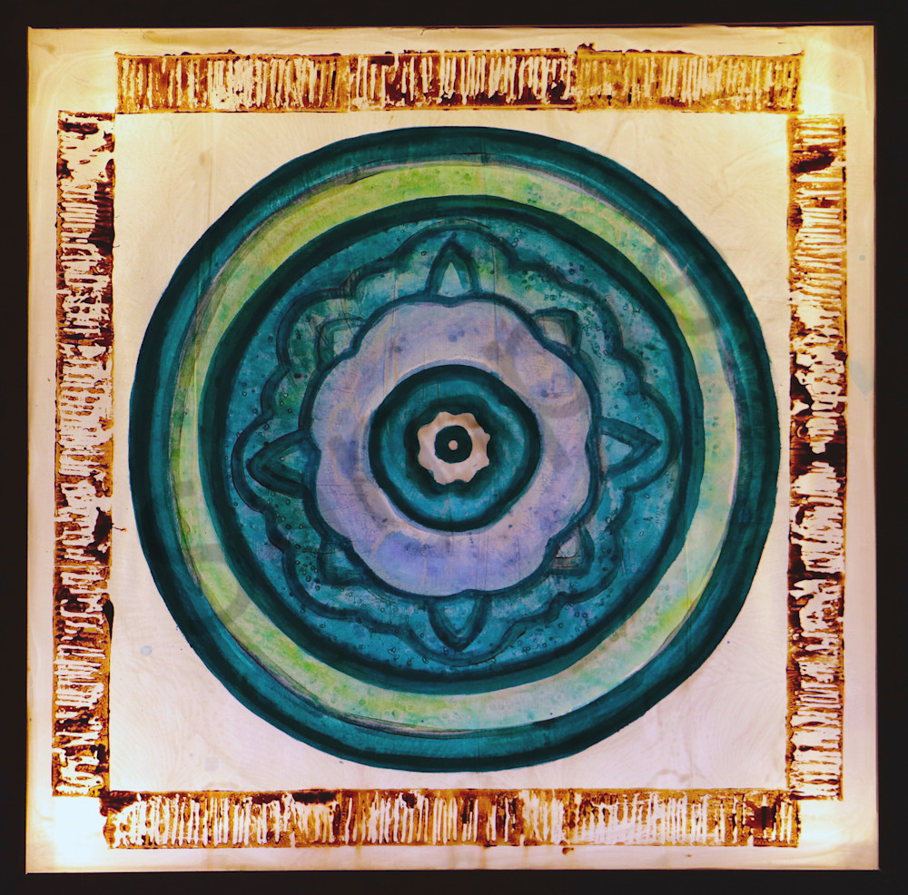 Zen Blue Dot Meditation Print