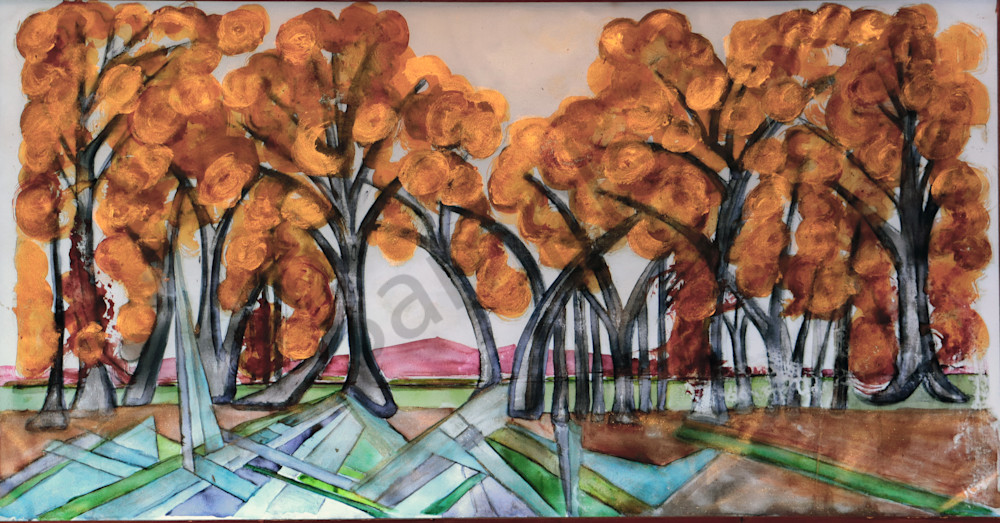 Sunrise Cottonwood Bosque on the Rio Grande Print