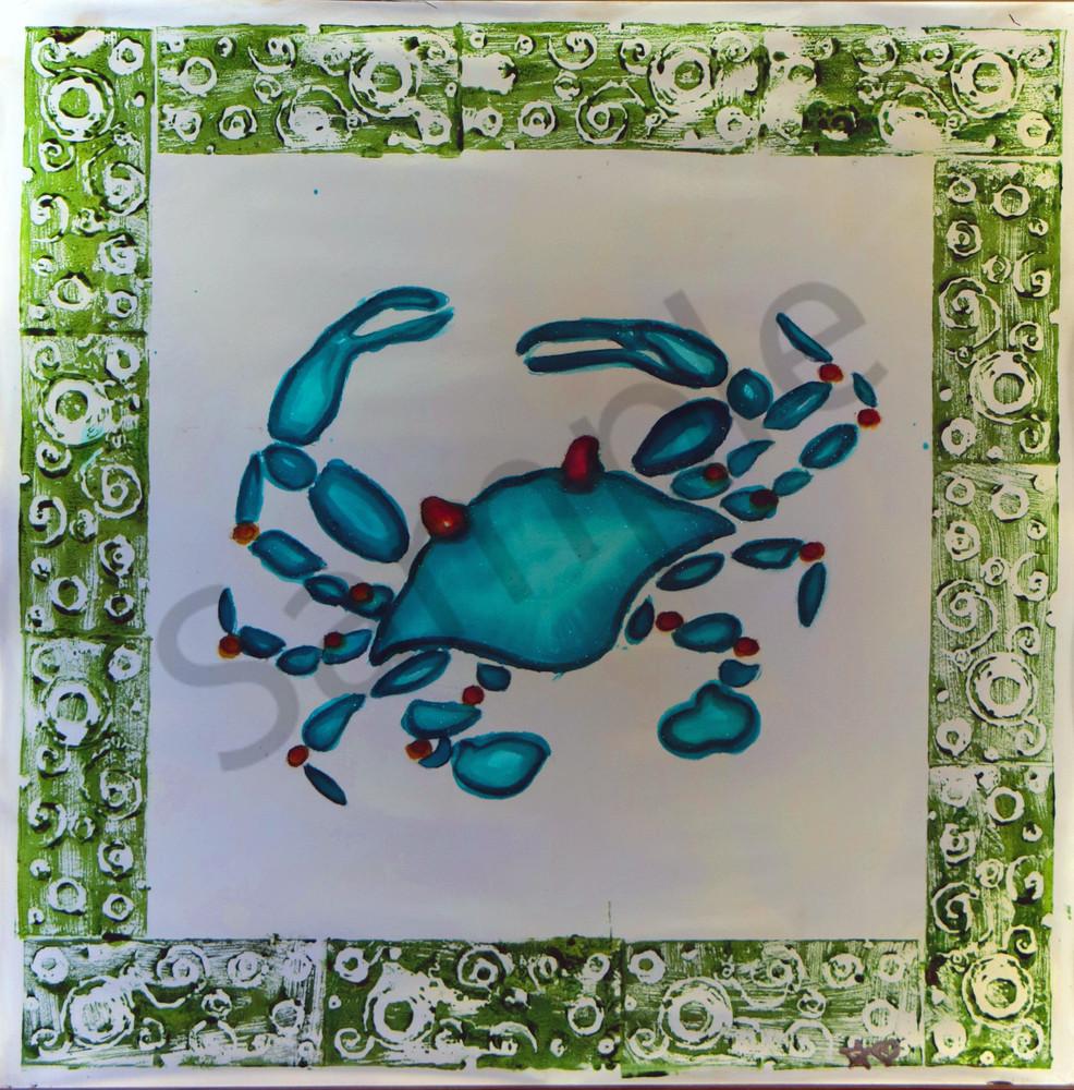 Blue Crab Beach Design Print